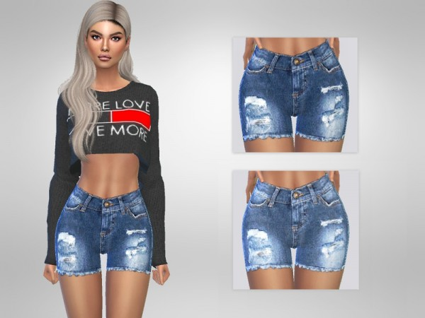 The Sims Resource: Artemis Ripped Shorts by Puresim