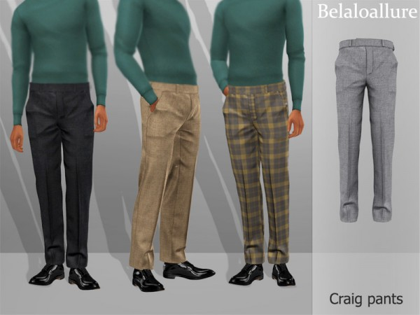 The Sims Resource: Belaloallure Criag pants by belal1997