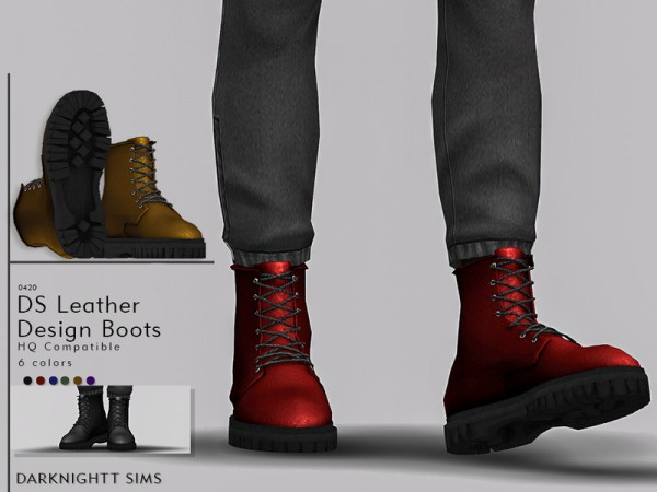 The Sims Resource: Leather Design Boots by DarkNighTt