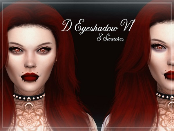 The Sims Resource: D Eyeshadow V1 by Reevaly
