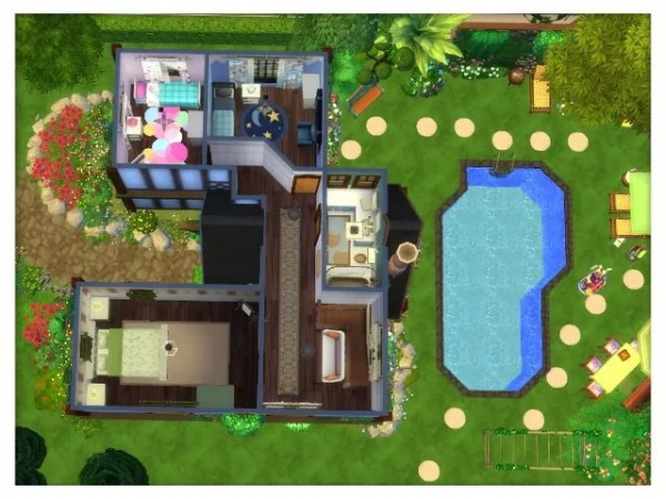 All4Sims: Country Cottage Sevenoaks by Oldbox