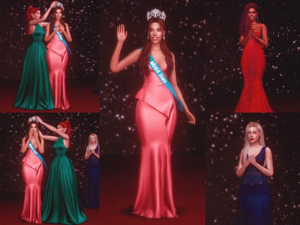 The Sims Resource: Beauty Pageant Crowning Poses by KatVerseCC