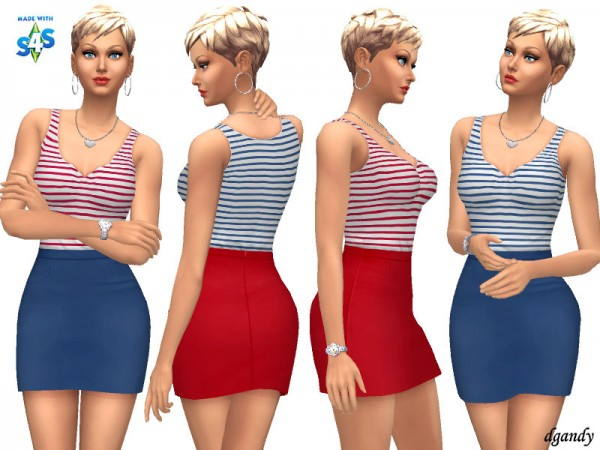 The Sims Resource: Dress 20200402 by dgandy