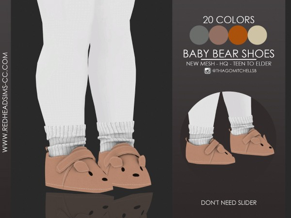 Red Head Sims: Baby Bear Shoes