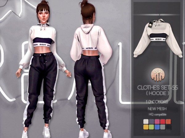 The Sims Resource: Clothes SET 55 Hoodie by busra tr