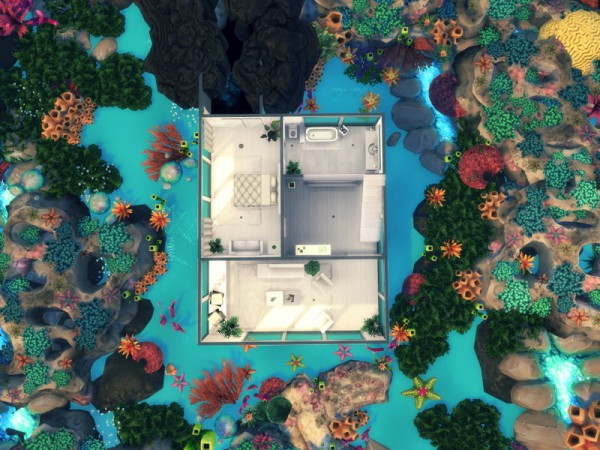 The Sims Resource: Underwater Villa by Summerr Plays