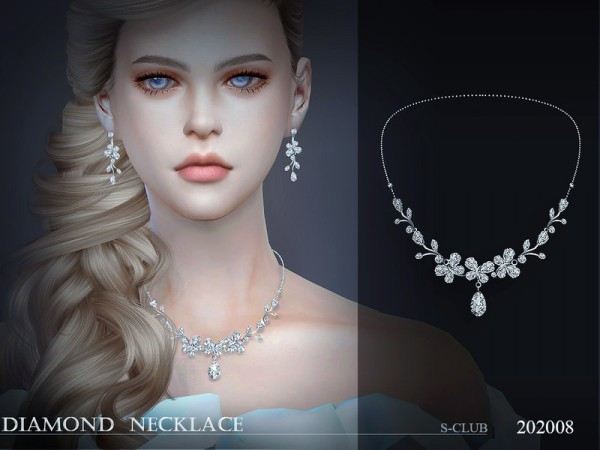 The Sims Resource: LL Necklace 202008 by S Club