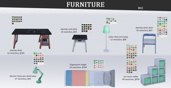 Mod The Sims: Young Artist Stuff Pack by ignifex
