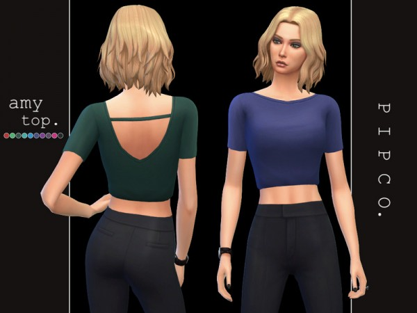 The Sims Resource: Amy top by Pipco