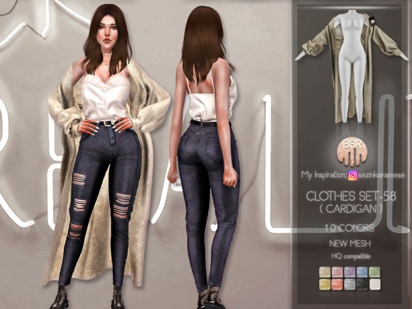 The Sims Resource: Clothes SET 58 Cardigan by busra tr