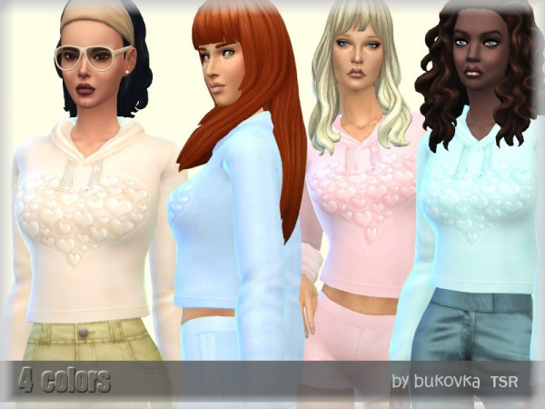 The Sims Resource: Hoody Hearts by bukovka