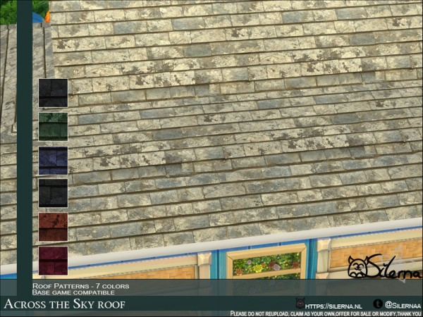 The Sims Resource: Across the Sky roof by Silerna