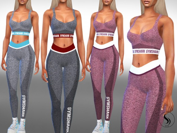 The Sims Resource: Female Full Gym Outfits by Saliwa
