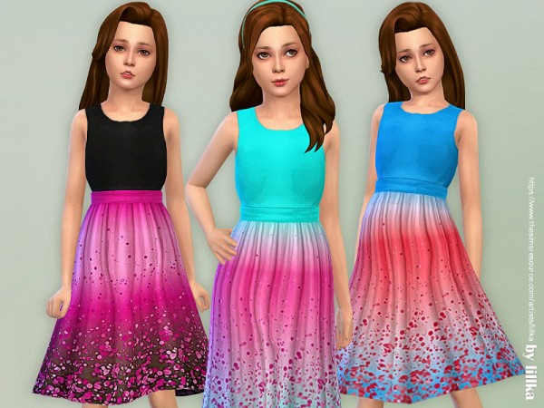 The Sims Resource: Girls Dresses Collection P140 by lillka