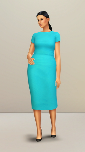 Rusty Nail: Fitted Dress in Turquoise