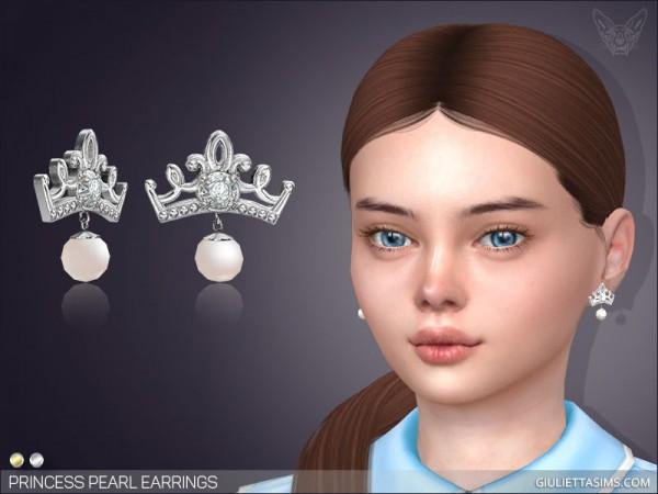 Giulietta Sims: Princess Pearl Earrings For Kids
