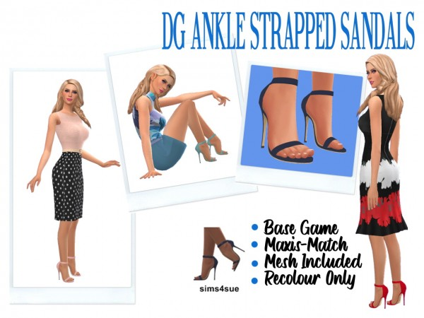 Sims 4 Sue: Ankle Strapped Sandals