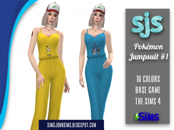 The Sims Resource: Pokemon Jumpsuit 1 by SimsJohnSims