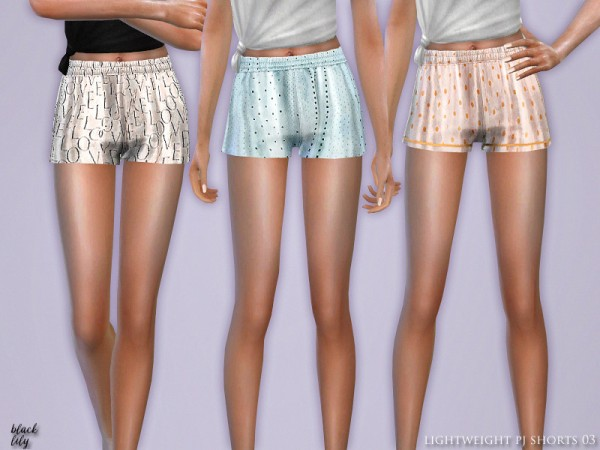The Sims Resource: Lightweight PJ Shorts 03 by Black Lily