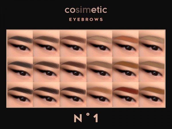 The Sims Resource: Eyebrows N1 by cosimetic