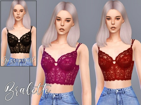 The Sims Resource: Bralette by GossipGirl S4