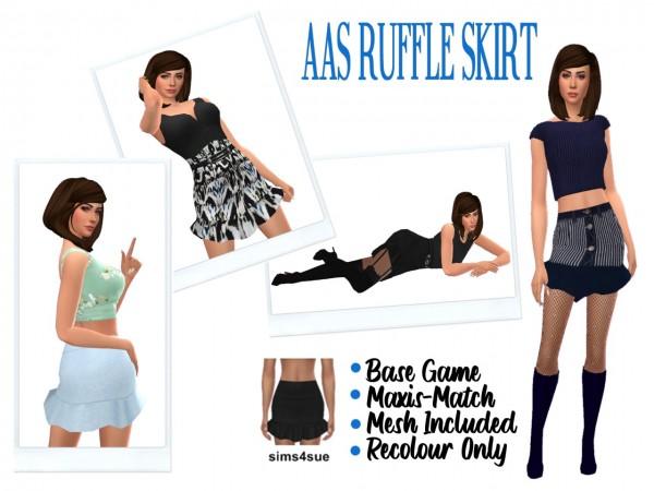 Sims 4 Sue: Ruffle Skirt