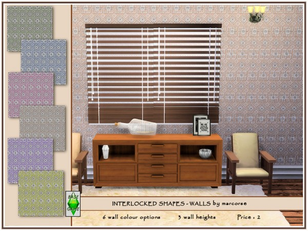 The Sims Resource: Interlocked Shapes   Walls by marcorse