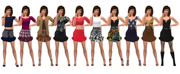 Sims 4 Sue: Ruffle Skirt