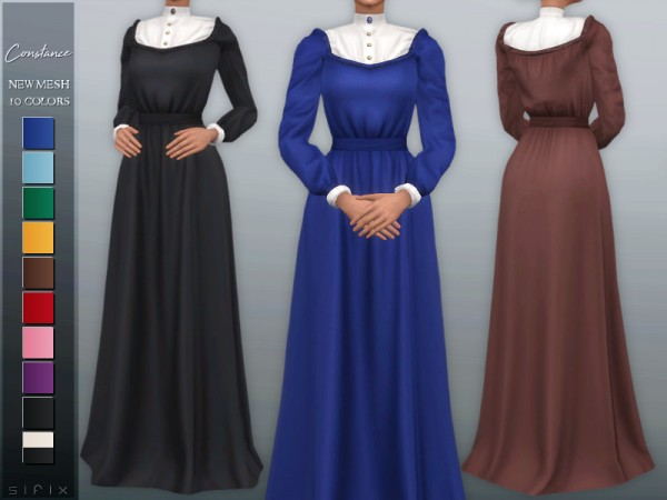 The Sims Resource: Constance Dress by laupipi
