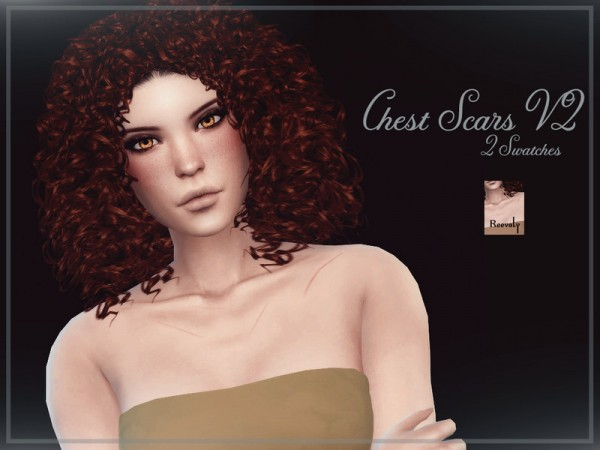 The Sims Resource: Chest Scars V2 by Reevaly