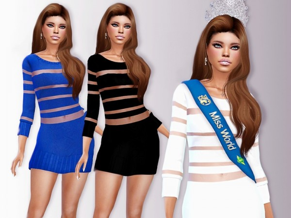 The Sims Resource: Cut Out dress by ZitaRossouw