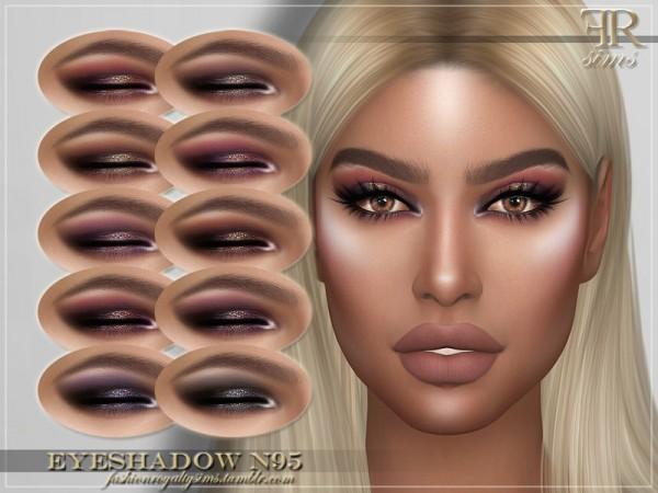 The Sims Resource: Eyeshadow N95 by FashionRoyaltySims