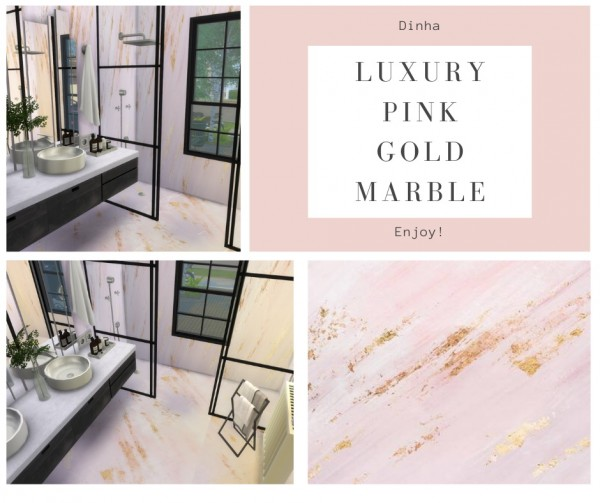 Dinha Gamer: Luxury Pink Gold Marble