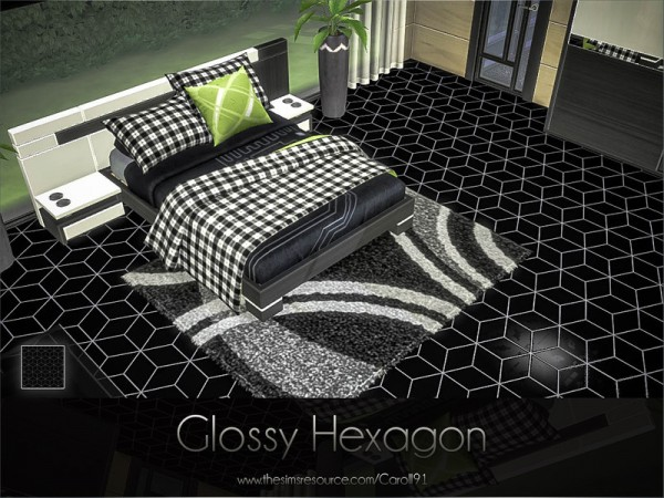 The Sims Resource: Glossy Hexagon floors by Caroll91