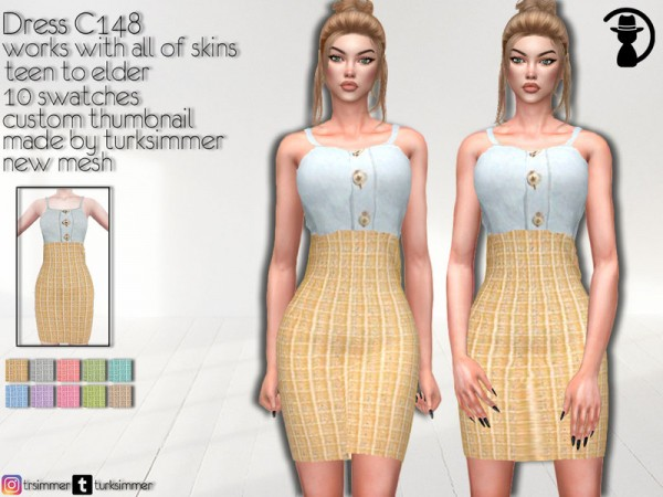 The Sims Resource: Dress C148 by turksimmer