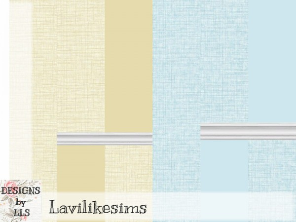 The Sims Resource: Folklore Linen Walls by lavilikesims