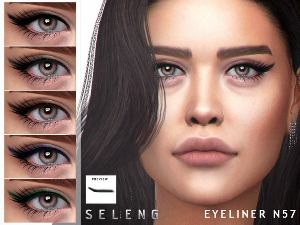 The Sims Resource: Eyeliner N57 by Seleng