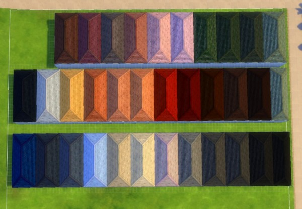 Mod The Sims: Roof of Life 34 Swatches by hellokittay