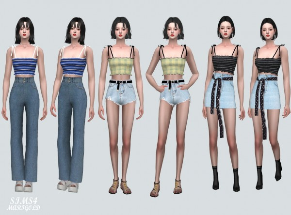 SIMS4 Marigold: Sleeveless Top V2