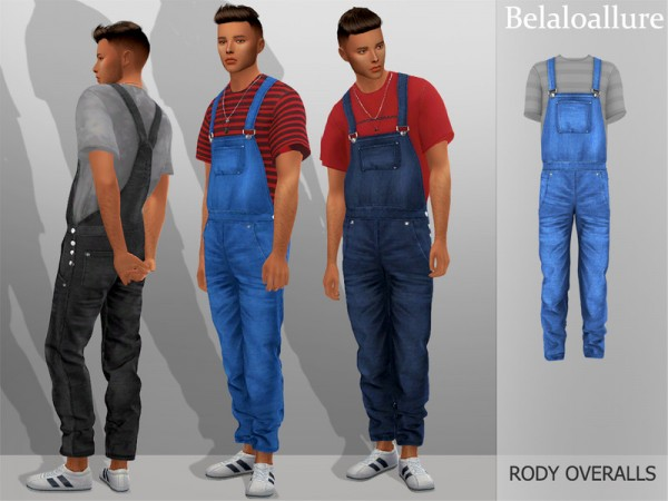 The Sims Resource: Belaloallure Rody overalls by belal1997
