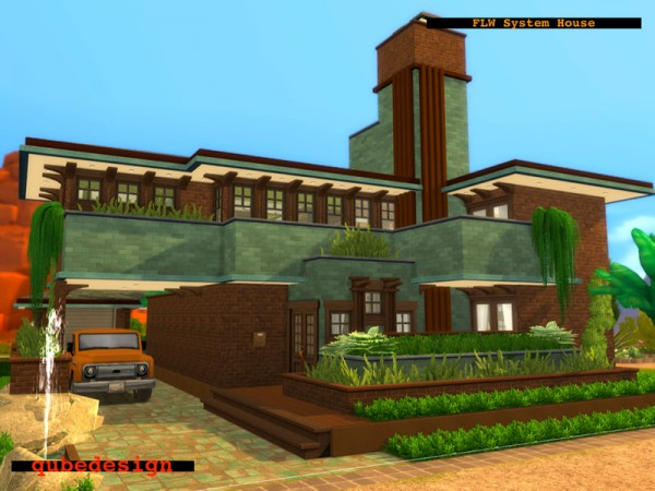 The Sims Resource: System House No CC by QubeDesign