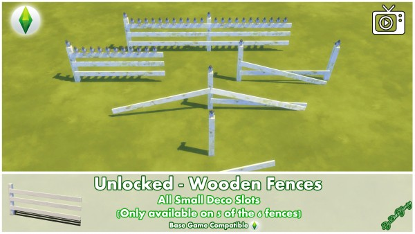 Mod The Sims: Unlocked   Wooden Fences by Bakie