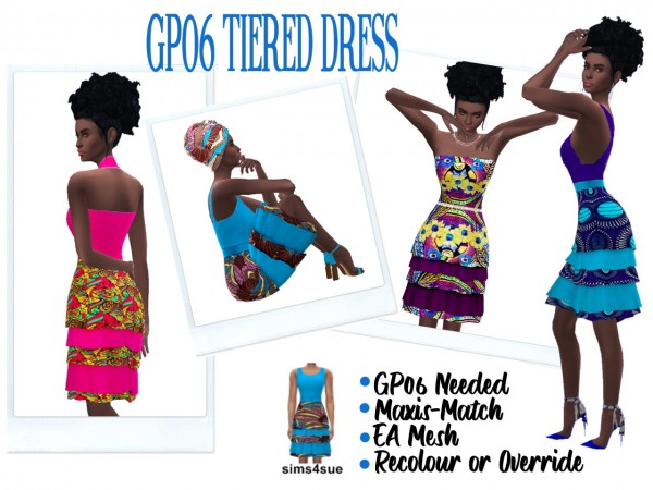 Sims 4 Sue: Tiered Dress