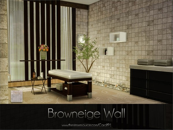 The Sims Resource: Browneige Wall by Caroll91