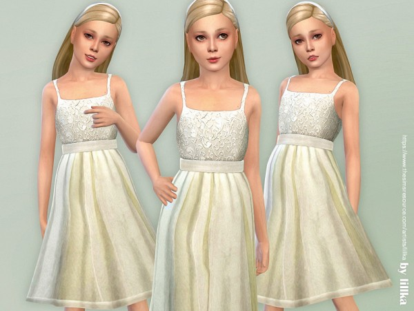The Sims Resource: Party Dress for Girls by lillka