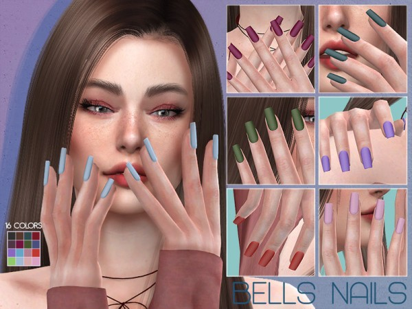 The Sims Resource: Bells Nails N7 by Lisaminicatsims