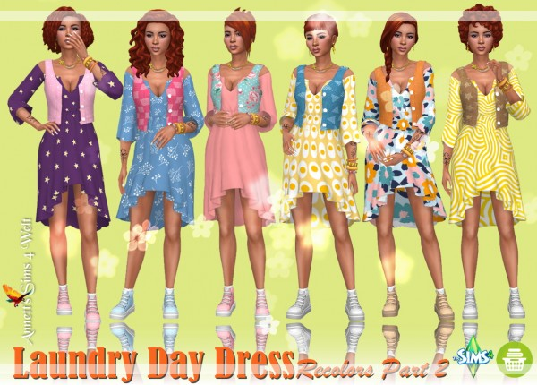 Annett`s Sims 4 Welt: Laundry Day Dress   Recolors Part 2