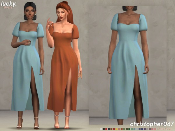 The Sims Resource: Lucky Dress by Christopher067
