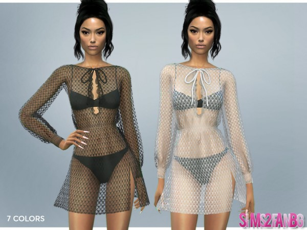 The Sims Resource: 399   Transparent Net Dress by sims2fanbg