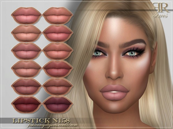 The Sims Resource: Lipstick N158 by FashionRoyaltySims
